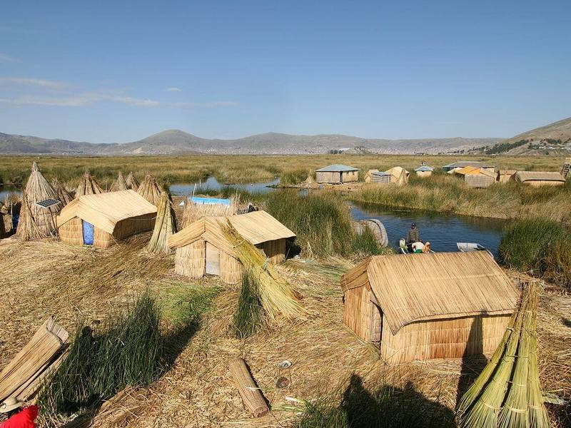 Man made islands - Uros, Peru
